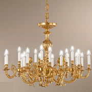 Antique French Gold Finish Chandelier with 20 Lamps