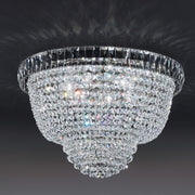 Flush fitting Italian lead crystal & gold ceiling light