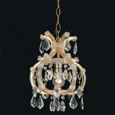 Maria Theresa single light Scholer crystal Italian chandelier