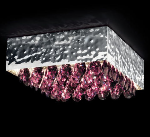 40 cm modern crystal ceiling light in 4 colours