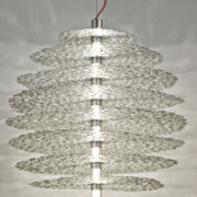 Tresor gold or silver plated disc ceiling pendant  from Terzani
