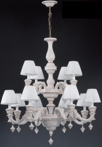 Veronese two tier porcelain chandelier by Bassano