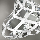 Modern polycarbonate cage pendant in 4 gorgeous finishes