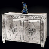 Classic Venetian engraved mirrored glass cupboard