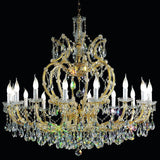 Gold Plated Crystal Glass Chandelier