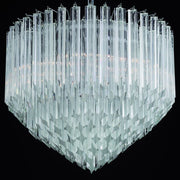 60 cm custom Murano glass prism point chandelier