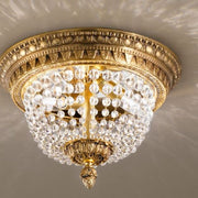 Flush Ceiling Fitting with Bohemian Crystals