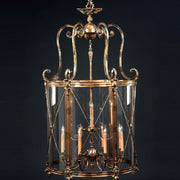 12 light traditional brass lantern