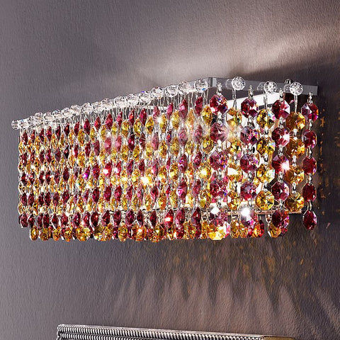 Swarovski crystal pendant wall light with choice of 6 colours