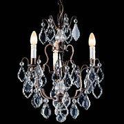 Small traditional crystal chandelier