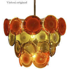 Vistosi-style Disc chandelier in custom colours and sizes