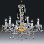 6 light 24% Italian lead crystal chandelier