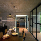 Frisbi glass & steel suspended ceiling light from Flos