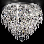Luxurious Asfour lead crystal flush ceiling light in 5 sizes