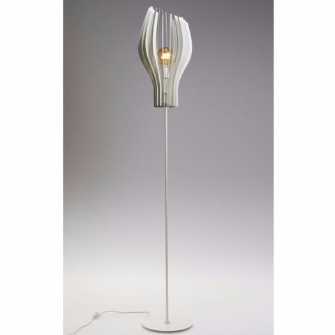 Asymmetric white, black or brass floor lamp