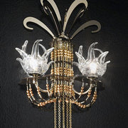 'Exotic' wall light with Swarovski and Murano crystal decoration