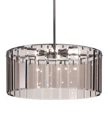 Chic modern pendant light with bronze, black, aubergine, clear, or smoked grey glass
