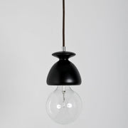Modern Black Wenge Finished Chess Pawn Suspension Ceiling Light