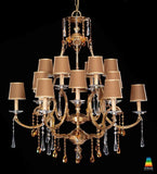 Large 18-light Swarovski chandelier with 18 lights