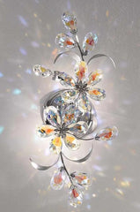 Wall light with Aurora Borealis crystal flowers