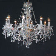 8 Light Crystal Glass Chandelier