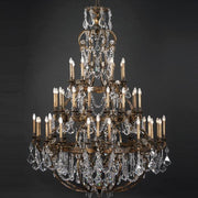 Very large bespoke brass chandelier