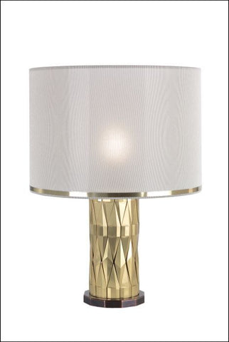 Chic boutique-style gold and brass table lamp
