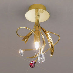 Ceiling lights with choice of Swarovski crystal colour