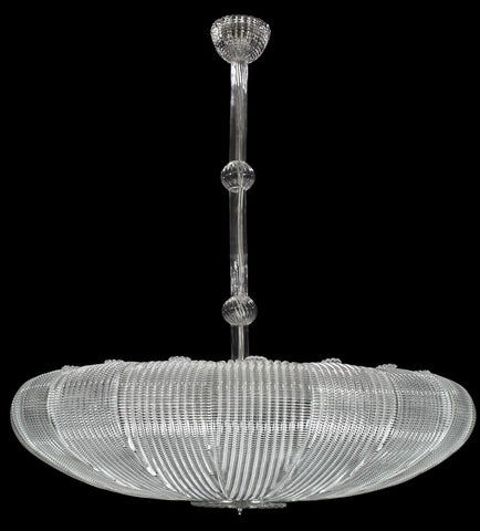 Large 1970s style Murano piastra glass ceiling light in 4 sizes