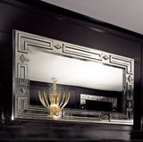 Superb large Venetian mirror in the art deco style