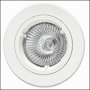 Round white metal recessed ceiling light