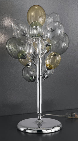 'Nuvola' balloon table light in green, yellow and clear glass