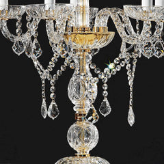 Italian lead crystal flambeau table light