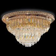 Lead crystal prism ceiling light with Murano glass option