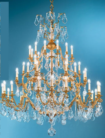 Magnificent 48-Arm Antique French Gold Chandelier