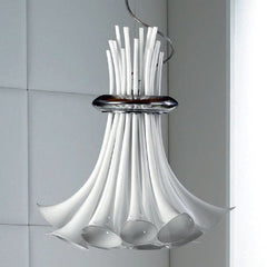 Amber incamiciato glass pendant light