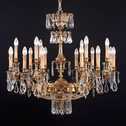 18 Light French Gold &Asfour crystal chandelier