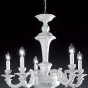 Palladio 5 light porcelain chandelier by Bassano