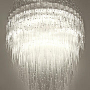 Iceberg sparkling plexiglass tube ceiling light by Terzani