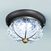 Small Venetian crystal LED ceiling light fitting