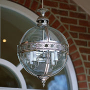 Stunning contemporary orb lantern with custom finishes