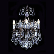 Bohemian crystal chandelier with 5 lights