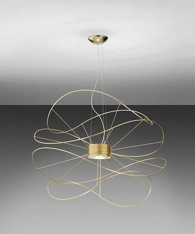 Gold-plated Hoops SP4 LED pendant light from Axo Light