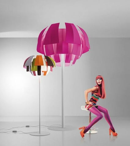 Plumage fabric floor lamp from Axo Light in 8 colours