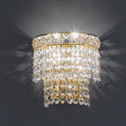 Two light wall light with 24% lead Italian crystals