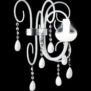 Murano glass wall light with Swarovski crystal pendants