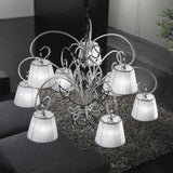 Murano Chandelier With Clear Crystal Droplet Decoration