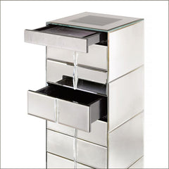Stylish art deco style Venetian mirrored chest of drawers