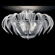 Murano glass ceiling light fitting with decorative leaf detail