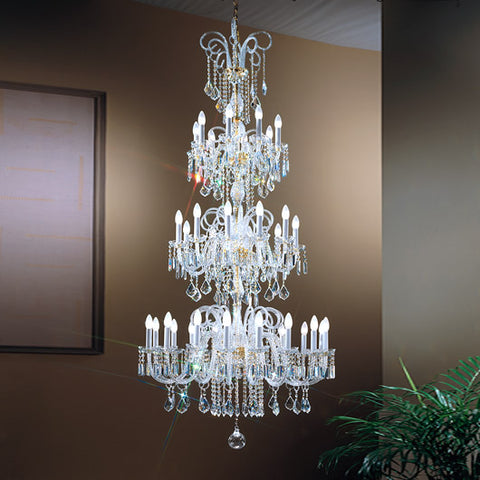 Italian glass and crystal hallway chandelier